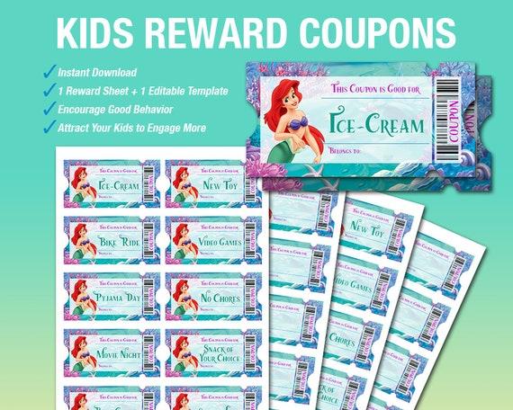 Kids Reward Coupons Reward Tickets Homeschool Printable Etsy