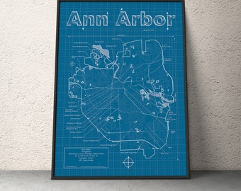 Cincinnati map original artwork cincinnati blueprint etsy ann arbor map original artwork ann arbor blueprint wall art anniversary gift street map michigan map birthday gift malvernweather