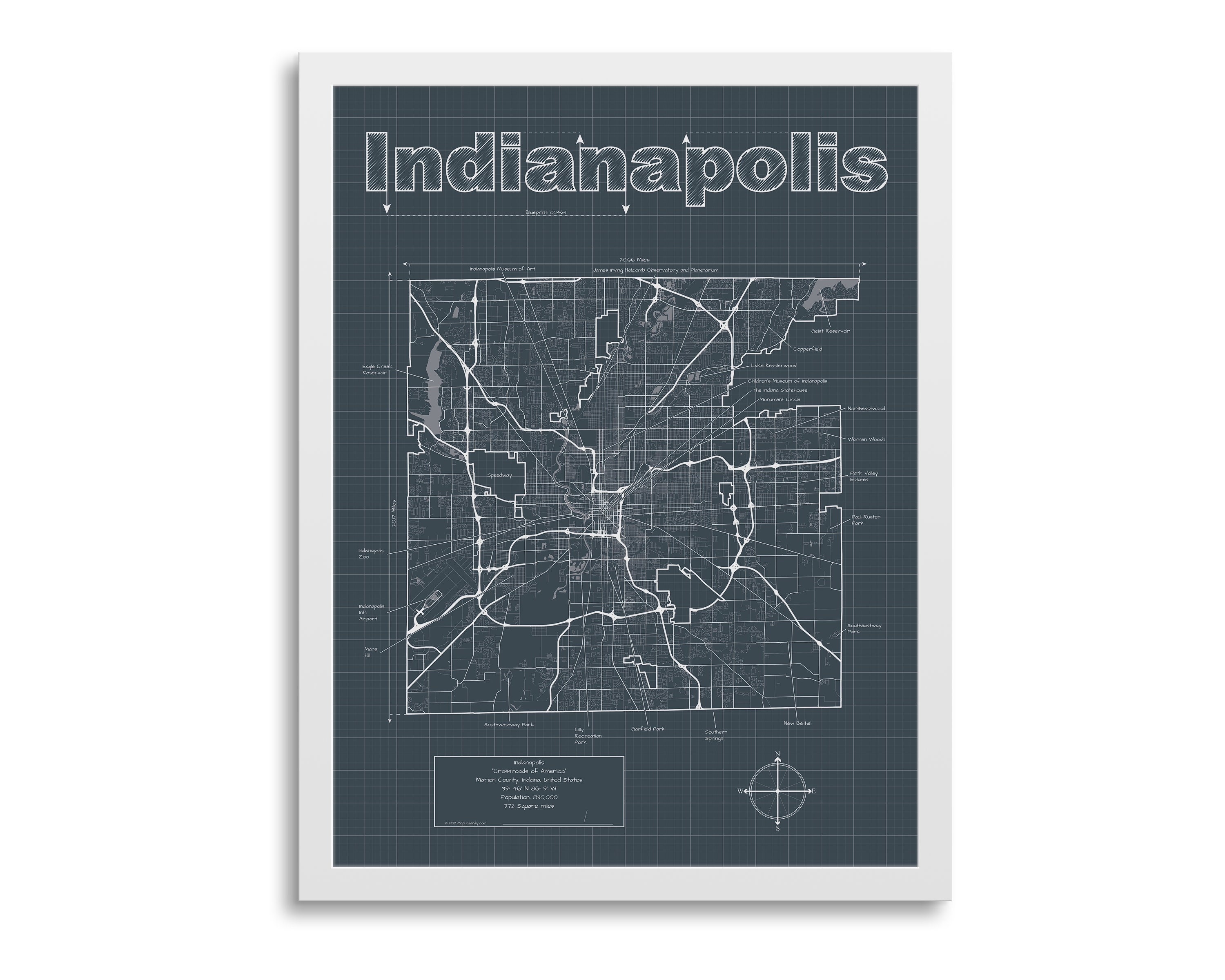Indianapolis Map - Indianapolis Indiana Map - Indianapolis Wall Map on indiana senate map, indiana substation map, indiana's first map, indiana house map, indiana capitol map, crown hill cemetery map, boston statehouse map, indiana columbus map, indianapolis zoo map, indiana lighthouse map, indiana state map,