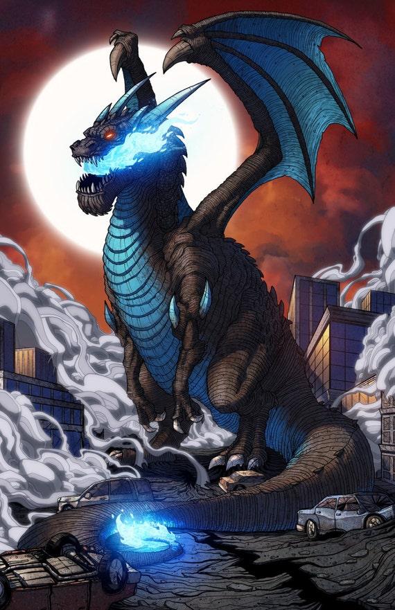 Dracaufeu X Kaijumon Impression De Pokemon Kaiju 11 X 17