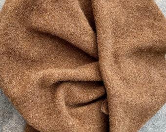 OLD CINNAMON  5+ oz new wool fabric, hand dyed