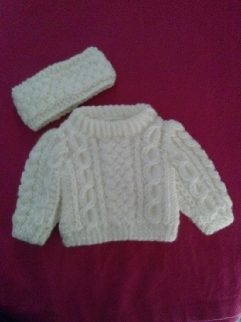 American Girl Doll Sweater and Headband image 0