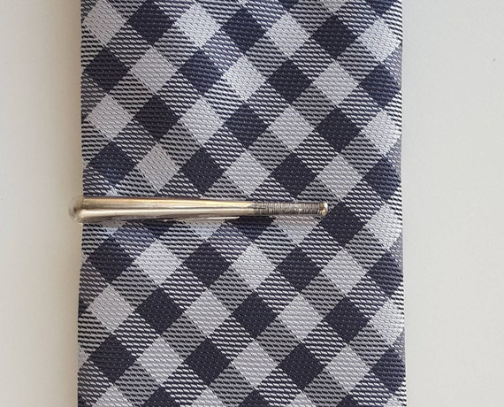 silver bat  tie clip