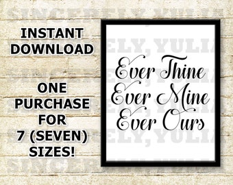 Ever Thine Ever Mine Etsy