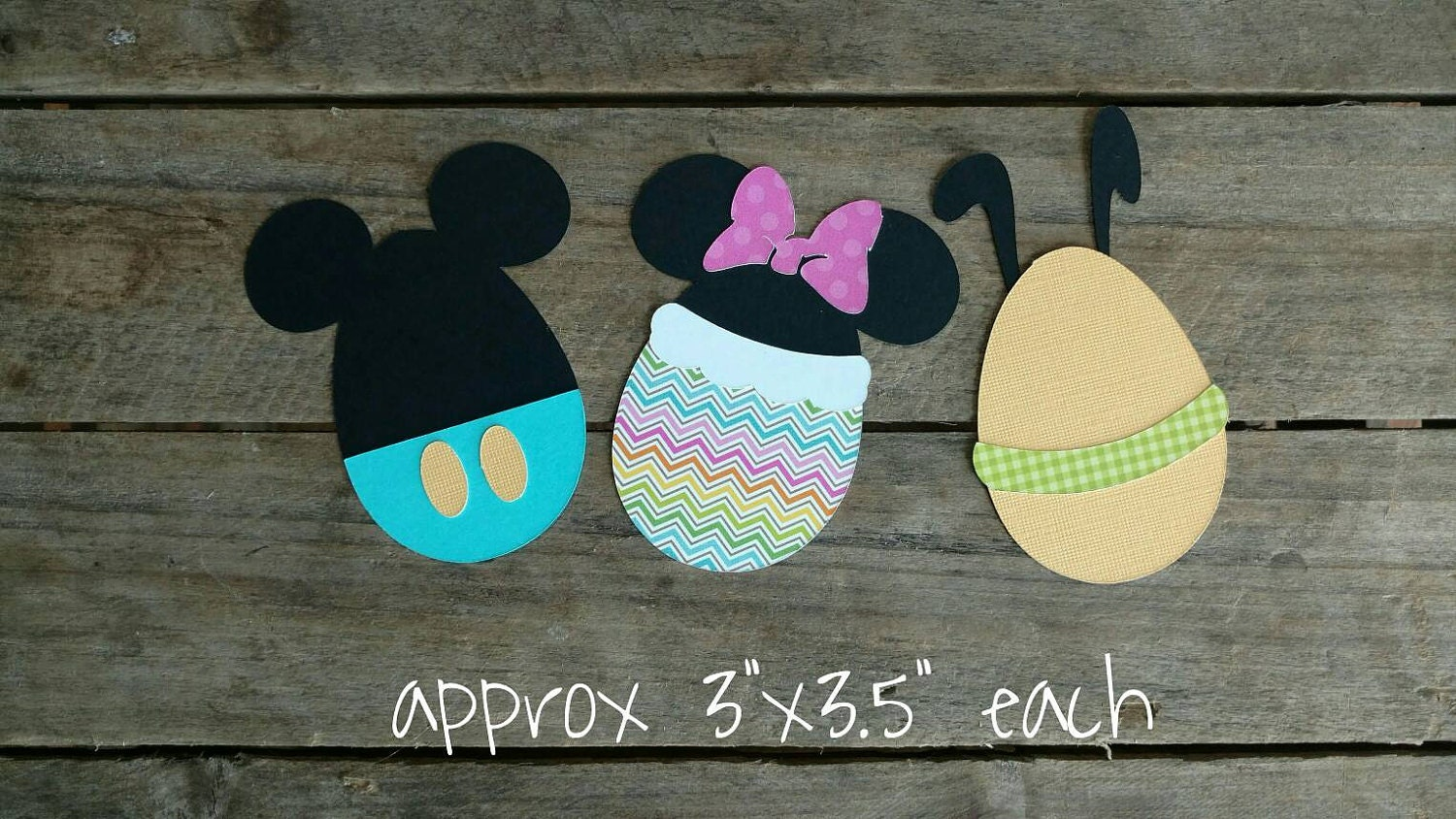 Disney Themed Easter Scrapbook Embellishments Or Window Decorations Mickey Minnie Pluto