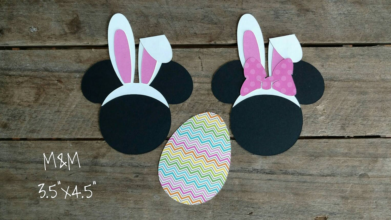 Disney Themed Easter Scrapbook Embellishments Or Window Decorations