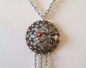 Spiderweb in the Morning Dew Necklace