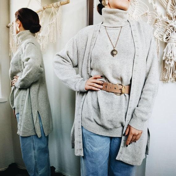 VINTAGE GRAY WOOL vest ~ vintage sweater ~ Angora… - image 3