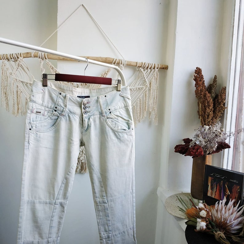 cowboy style jeans vest cowboy outfit western clothing western style VINTAGE BLUE JEANS   bohemian style