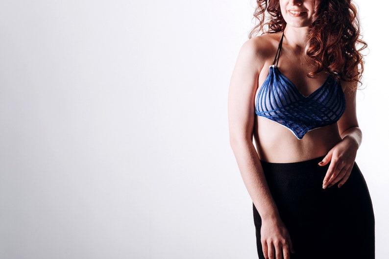 STACEY BLUE applique lingerie set