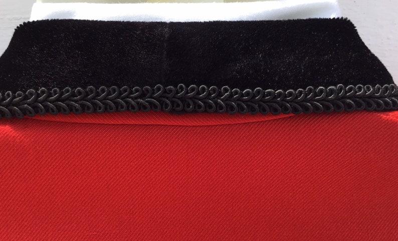 Vntg Spanish Horse RidingFlamenco Jacket Andalucian Cropped Riding Jacket RedBlack Velvet Trims Chest Size 26 66cm