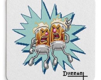 Beer Buddies drink coasters (set of 4)