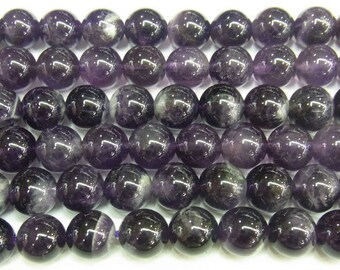 6mm Round Amethyst Beads Genuine Natural 4233 15''L 38cm Loose Beads Semiprecious Gemstone Bead   Supply