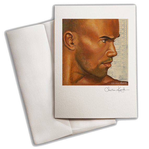 Shemar Moore Portrait Greeting Card
