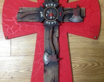 Large Fireman's Cross
