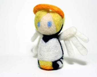 Needle Felted Mercy Overwatch Doll [MADE-TO-ORDER]
