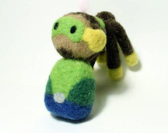 Needle Felted Lucio Overwatch Doll [MADE-TO-ORDER]