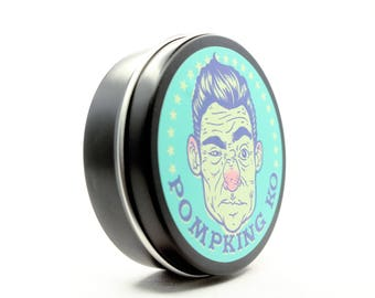Hair Pomade, Pomade, KO by Pompking Pomades, Black Raspberry Stogie scent, medium/firm hold