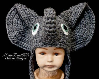 PDF File Only - Ellie the Elephant Crochet Pattern 0-6 mo   1-3 yr only d5a7aa9f6295