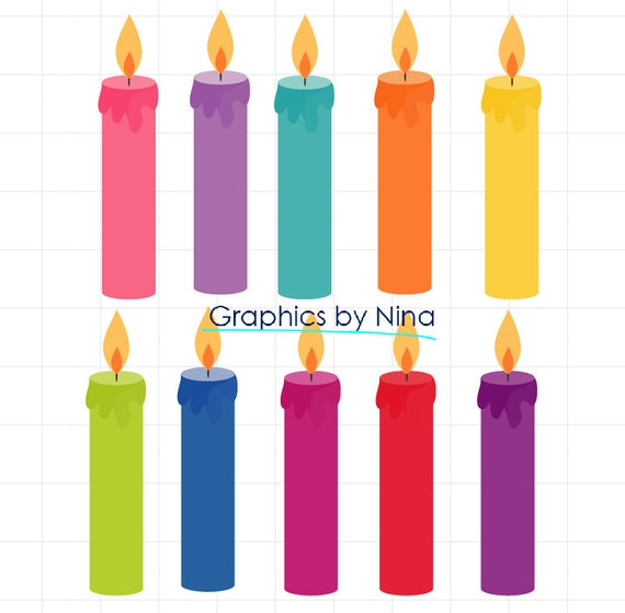 instant dowload birthday candles clipart birthday clipart scrapbook rh etsystudio com birthday cake without candles clipart animated birthday candles clipart