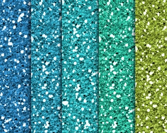 50% SALE INSTANT DOWNLOAD/ Blue and Green Glitter Digital paper pack  for Personal and Commercial use/ Scrapbooking