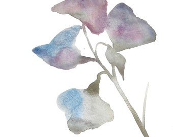 botanical no. 6 . giclee fine art print of watercolor