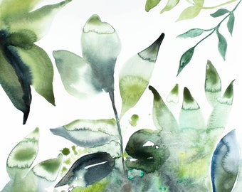 the woods no. 46 . giclee fine art print of watercolor