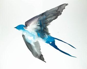 swallow no. 22 . original ink painting