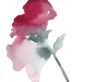 botanical study no. 1 . original watercolor painting