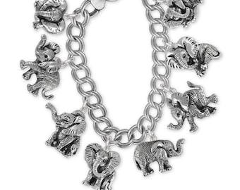 Elephant Jewelry Sterling Silver Elephant Earrings Handmade Wildlife Jewelry EL6