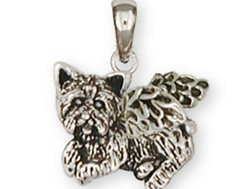 Yorkie Angel Charm Jewelry Sterling Silver Handmade Dog Charm YK341X-AC