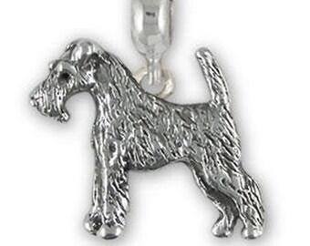 Fox Terrier Jewelry Gold Vermeil Handmade Fox Terrier Charm FXT3H-CVM