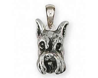 Schnauzer Ring Jewelry Silver And 14k Gold Handmade Schnauzer Ring SN23H-TNR