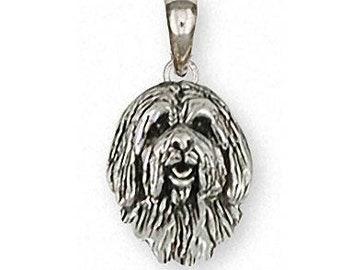 Tibetan Terrier Pendant Jewelry Sterling Silver Handmade Dog Pendant TTR-DT