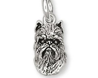Brussels Griffon Earrings Handmade Sterling Silver Dog Jewelry GF11-E