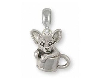 8d95e772e Chihuahua Jewelry Teacup Chihuahua Charm Slide Jewelry Sterling Silver  Handmade Chihuahua Charm Slide CU20-PNS Fits Pandora® Bracelet