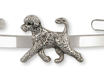 Portuguese Water Dog Jewelry Sterling Silver Handmade Portuguese Water Dog Charm  PWD3-C