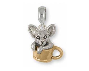 Chihuahua Dog Ring Handmade Sterling Silver Dog Jewelry CU21-R