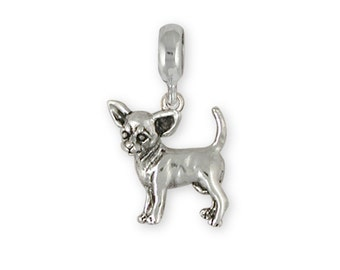 d028f56ce Chihuahua Jewelry Sterling Silver Charm Slide Chihuahua Charms And Chihuahua  Jewelry By Esquivel & Fees CU15-PNS Fits Pandora® Bracelet