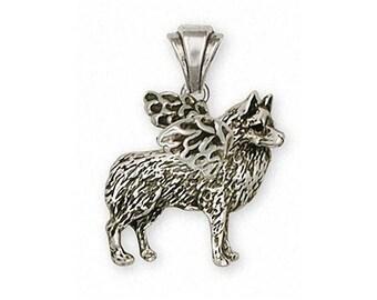 Schipperke Jewelry Sterling Silver Schipperke Pendant Handmade Dog Jewelry SC6-P