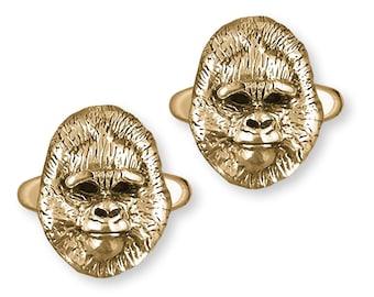 Gorilla Design Gold Plated Cufflinks UK Handmade Gift Boxed 157