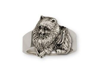 Pomeranian Charm 14k Two Tone Gold Vermeil Dog Jewelry PR4-TCVM