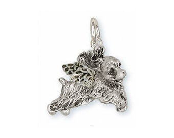 Cocker Spaniel Photo Locket Handmade Sterling Silver Dog Jewelry CK3-V
