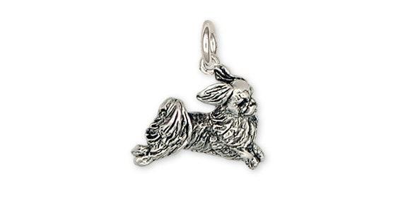 Griffon bruxellois Perro de plata esterlina encanto