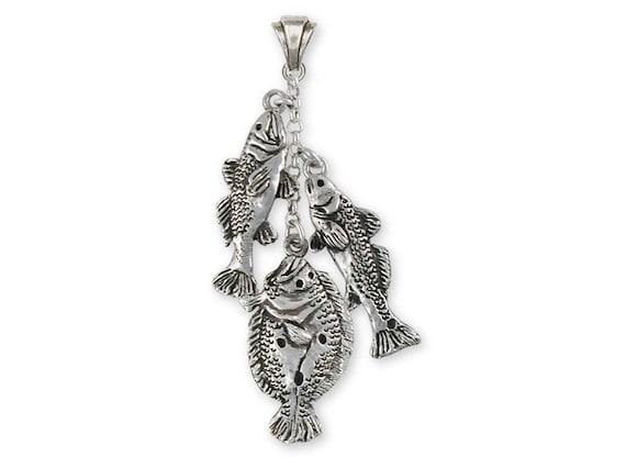 Flounder Pendant Jewelry Sterling Silver Handmade Fish Pendant FE1-P