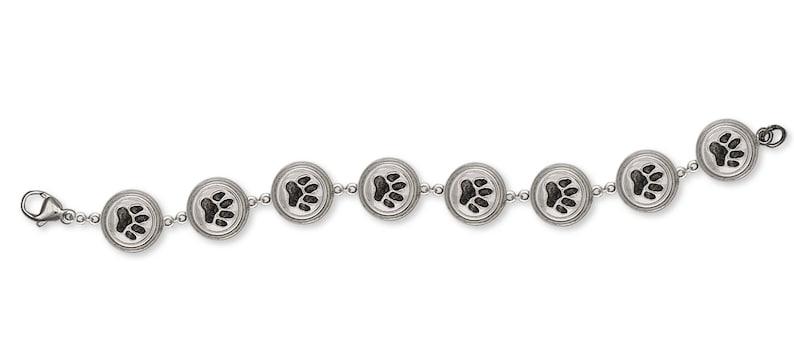 Dog Paw Jewelry Dog Paw Bracelet Jewelry Sterling Silver Handmade Dog Bracelet PAW2-BR