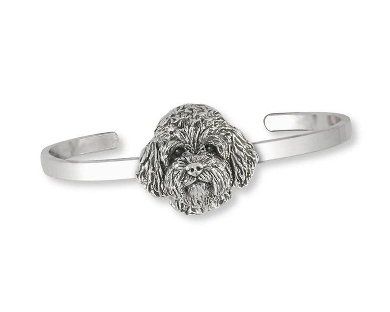 Goldendoodle Bracelet Jewelry Sterling Silver Handmade Dog Bracelet GDL4-CB
