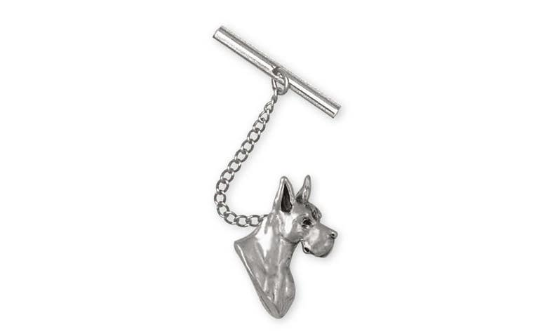 Great Dane Jewelry Great Dane Tie Tack Jewelry Sterling Silver Handmade Dog Tie Tack GD9-TT