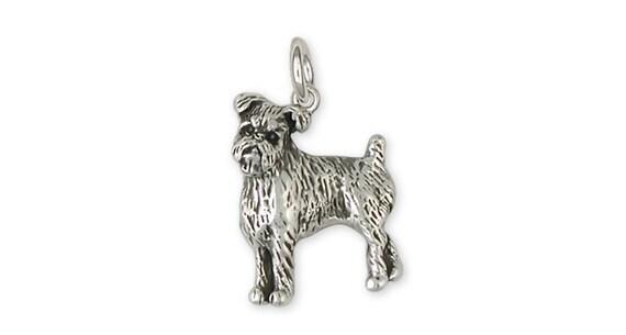 Brussels Griffon Charm Handmade Sterling Silver Dog Jewelry GF10-C