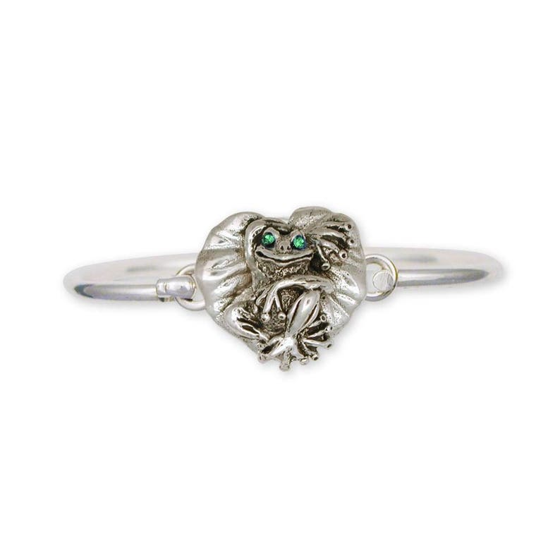 Frog Jewelry Frog Bracelet Jewelry Sterling Silver Handmade Frog Bracelet FG4-XHB